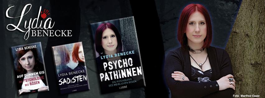 Lydia Benecke mit Büchern